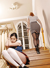 Naughty Student Getting A Spanking