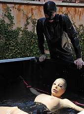 Latex Lucy Disciplined With Water