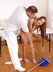 Leyla gets her sweet ass spanked