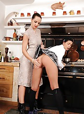 The kitchen disciplinary spanking!