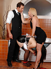 Naughty maid Tigerr gets the plunge