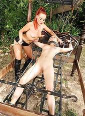 Dominatrix fucks her disciple hard