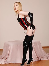 Sizzling hot lily in latex strips