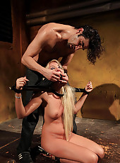 Blonde babe abused by master