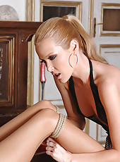 Hot sexy beauties play bondage game