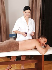 Hot babe Shione Cooper gets spanked