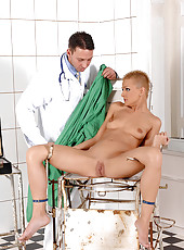 C.J. gets bound & examined by doc