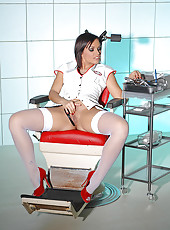 Sylvia Laurent as hot deviant nurse