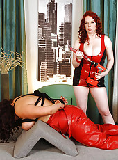 Busty bound lesbiand toy drilling