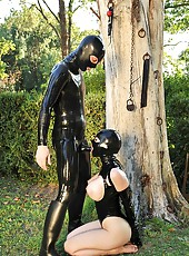 Latex Lucy Serves The Latex Cock
