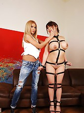 Mistress Punishes Asian With A Crop