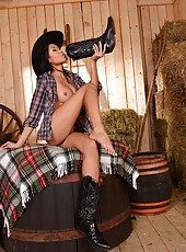 Asian Beauty Danika in Cowgirl Wear