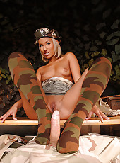 Army Footjob With Camouflage Socks