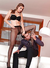 Amazing Conny coaxes some hot cum