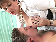 Dominant nurse fucks