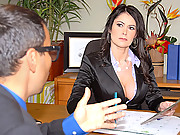 Big tits boss bombshell gets her box pounded in the interview office in these hot cock sucking cum shot vids