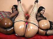Big booty black girls have nasty threesome!