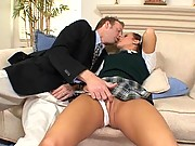 Deena Daniels Lifts Her Skirt Bouncing Pussy On Fat Cock