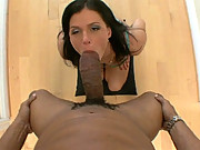 India Summer Takes A Big Black Cock Deep Down Her Throat
