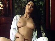 Hairy eighties milf loves rubbing her furry slit to orgasm