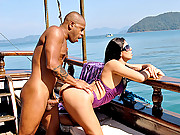Super hot round booty brazilian bikini gets fucked hard on the dock in these hot outdoor beach fucking dogfy style fuck vids