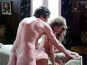 Classy retro lady gets stiff cock inside her furry pussy