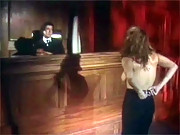 Eighties babe bribes the judge with her perfect sexy body