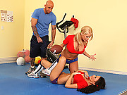 Madison and Mya fucking their coach to death
