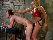 Big ass dominatrix stuffs his face with ASS