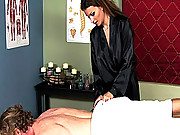 Baily the masseuse gives an extra service