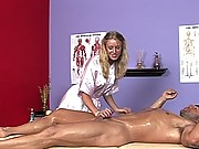 Allison gets Paul oiled up for the big happy ending treatment