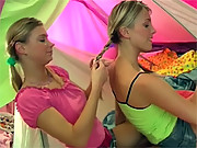 Two blonde teenage girls love to use their favorite dildos