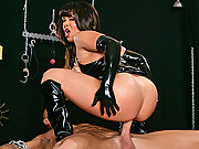 Sienna West does things the bad way fucking long and hard with a black leather suit