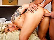 Brooke Haven brings a pie in exchange for a big cock fucking