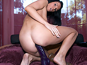 Jennifer purple dildo sex action