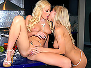 Super hot angelina and the lesbian girls masterbate on the kitchen top then finger til orgasm in these hot vids