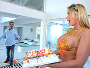 Super sexy  mega ass babe brooks and savannah get their amazing ass pussys penetrated in this hot birthday fuck vids