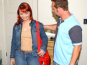 Check out this hot red head babe get her milf pussy nailed and cumfaced in this hot fucking movie set