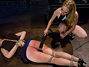 Lesbian BDSM with strapon and fisting!