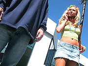 Hot college girl gets job being humiliated