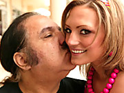 Wild little slut gets her pussy wrecked by old dirty Ron Jeremy