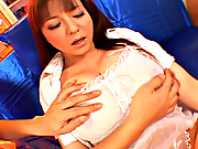 Yuuk Tsukamoto lovely and horny Asian chick gets her huge tits massaged