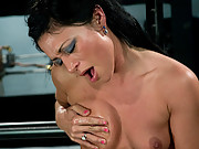 First time babe machine nailed and made to cum by sybian