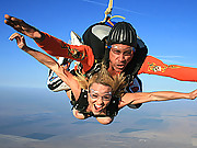 Kagney and Krissy fucking after a ten thousand free fall drop
