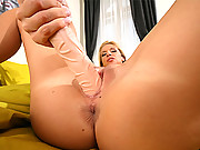 Smokin hot body bambi masterbates her tight pussy and dildo fucks after a hot shower in these 4 vids