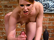 Mean Redhead fucks her man in the ass