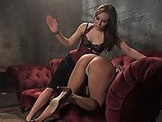 Jade gets worked over by Sinn in sexual lesbian BDSM!