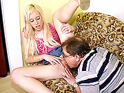 Petite young girl has a birthday present for