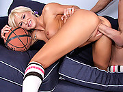 Miss Belle gets her pussy steched by a massive dick