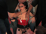 Amateur gets humiliated and fucked in public